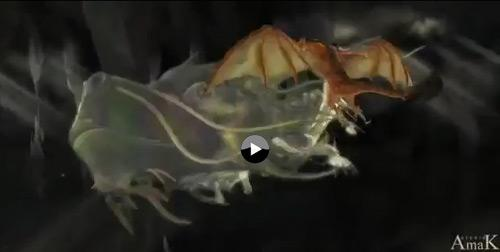 Dragon Ride - Vulcania - Attration - film d'animation - Amak